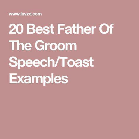 Wedding speech groom example